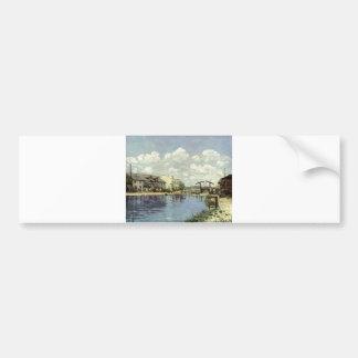 Alfred Sisley - Kanal - Le canal Saint-Martin 1872 Bumper Sticker