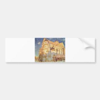 Alfred Sisley -  Kirche von Moret 1893 Oil Church Bumper Sticker
