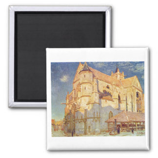 Alfred Sisley -  Kirche von Moret 1893 Oil Church Magnet