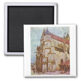 Alfred Sisley - Kirche von Moret 1893 Oil - Church Magnet