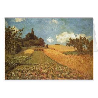 Alfred Sisley Kornfeld 1873 - Cornfield Oil Card