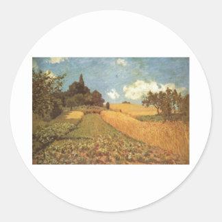 Alfred Sisley Kornfeld 1873 - Cornfield Oil Classic Round Sticker