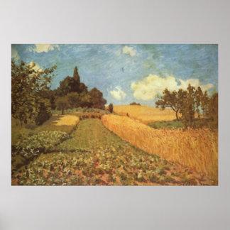 Alfred Sisley Kornfeld 1873 - Cornfield Oil Poster