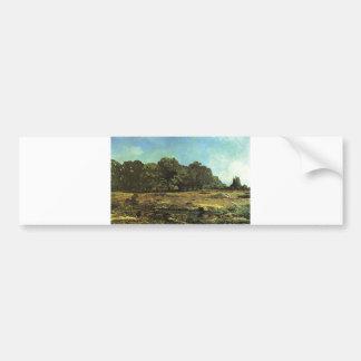 Alfred Sisley - La Celle-Saint-Cloud 1865 Chestnut Bumper Sticker