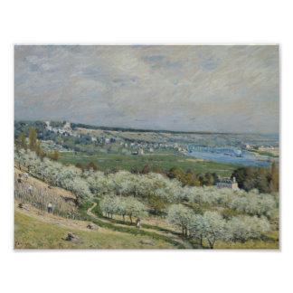 Alfred Sisley - la terraza en Santo-Germán Fotografía