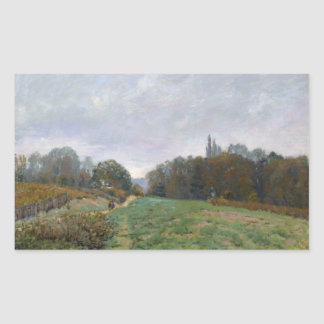 Alfred Sisley - Landscape at Louveciennes Rectangular Sticker