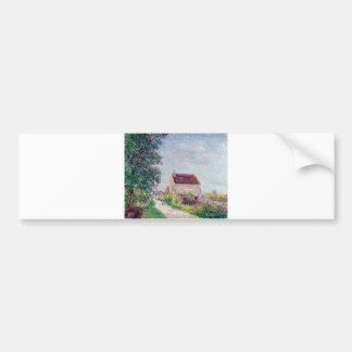 Alfred Sisley - Le village des Sablons 1885 Oil Bumper Sticker