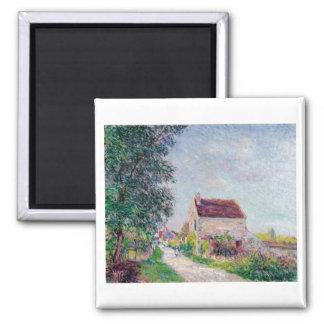 Alfred Sisley - Le village des Sablons 1885 Oil Magnet
