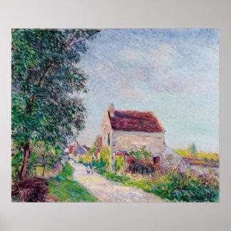 Alfred Sisley - Le village des Sablons 1885 Oil Poster