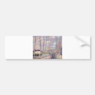Alfred Sisley Loing - Kanal 1892 Oil Landscape Bumper Sticker