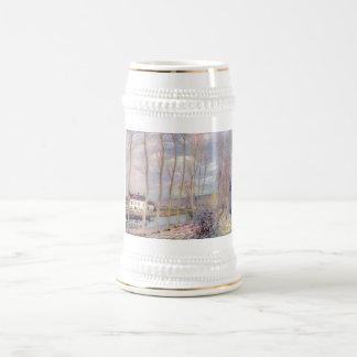 Alfred Sisley Loing - paisaje del aceite de Kanal Jarra De Cerveza