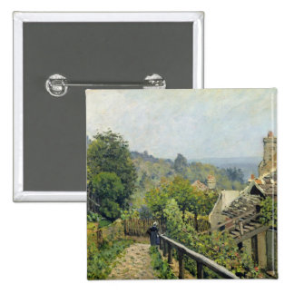 Alfred Sisley | Louveciennes, The Heights at Marly Pinback Button