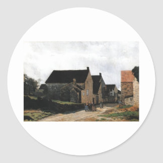 Alfred Sisley Marlotte Street - Women to the Woods Classic Round Sticker