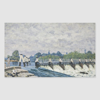 Alfred Sisley - Molesey Weir, Hampton Court Rectangular Sticker