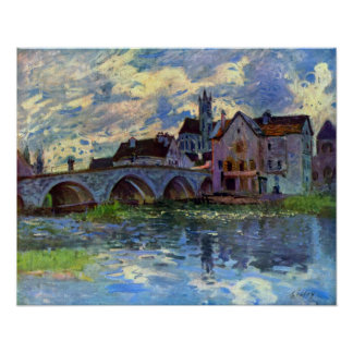 Alfred Sisley - Moret-sur-Loing Poster