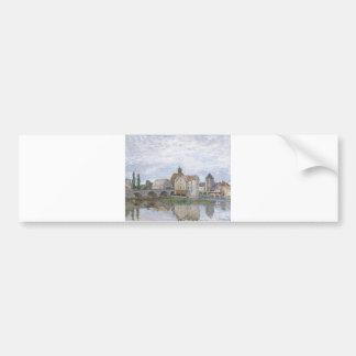 Alfred Sisley Moret-sur-Long - Temps gris 1892 Oil Bumper Sticker