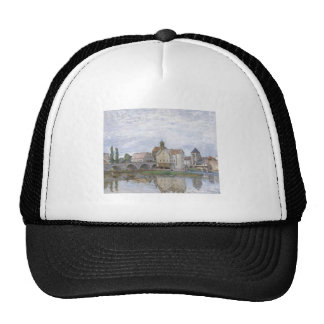 Alfred Sisley Moret-sur-Long - Temps gris 1892 Oil Trucker Hat