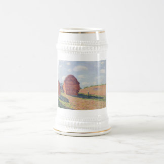 Alfred_Sisley - muere el aceite de Strohmieten Jarra De Cerveza