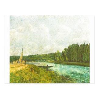 Alfred Sisley - muere el der Oise 1878-1880 de Ufe Postales