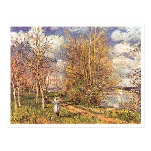 Alfred Sisley muere kleinen Wiesen im Frühling Postal