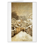 Alfred Sisley - Neve em Louveciennes - Oil Canvas Greeting Cards