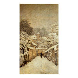 Alfred Sisley - Neve em Louveciennes - Oil Canvas Poster