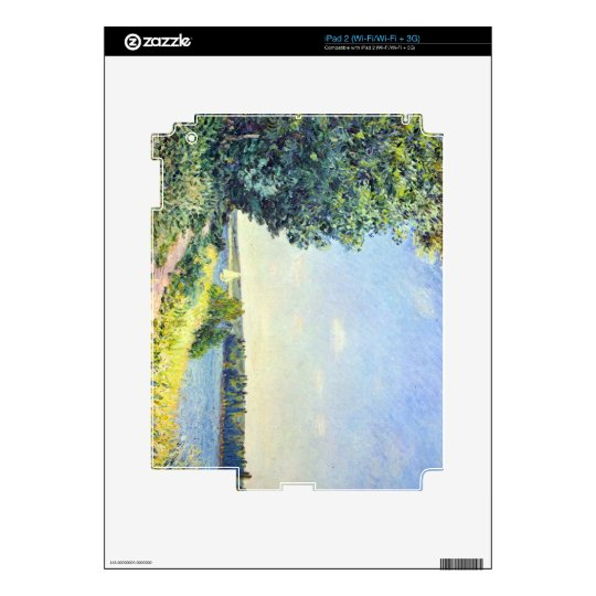Alfred Sisley - Normandy path on the water in the iPad 2 Decal