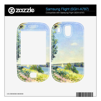 Alfred Sisley - Normandy path on the water in the Skins For Samsung Flight