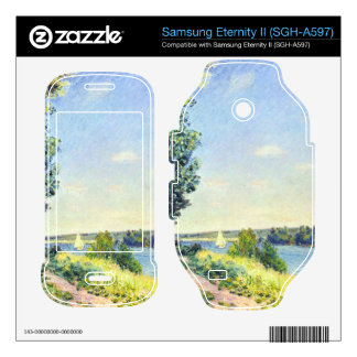 Alfred Sisley - Normandy path on the water in the Samsung Eternity II Skin