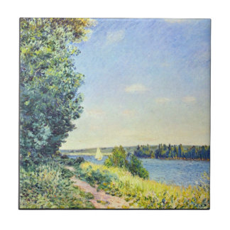 Alfred Sisley - Normandy path on the water in the Tiles