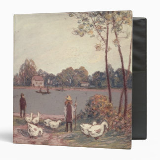 Alfred Sisley | On the Banks of the Loing 3 Ring Binder