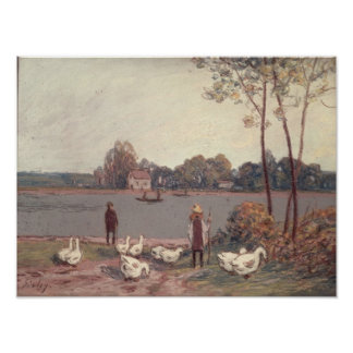 Alfred Sisley | On the Banks of the Loing Poster