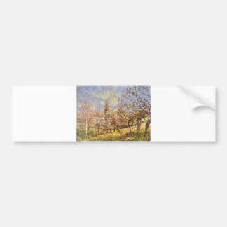 Alfred Sisley - Orchard in spring. 1881 Oil Canvas Bumper Sticker