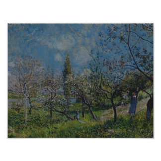 Alfred Sisley - Orchard in Spring, By Poster