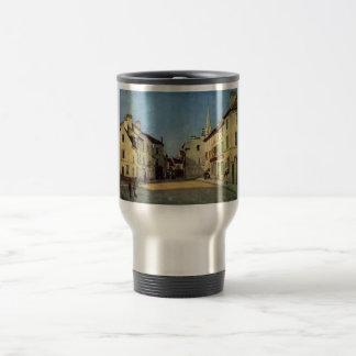 Alfred Sisley - Platz en la impresión del aceite d Tazas
