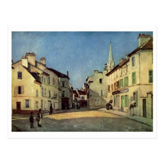 Alfred Sisley - Platz in Argenteuil 1872 Oil Print Post Card