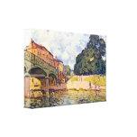 Alfred Sisley - puente en Hampton Court Lona Envuelta Para Galerias