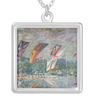 Alfred Sisley | Regatta at Molesey Silver Plated Necklace