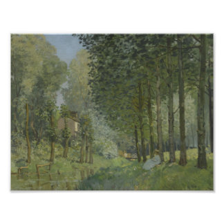 Alfred Sisley - Rest along the Stream Poster