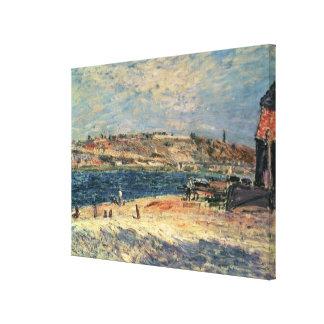 Alfred Sisley   River Banks at Saint-Mammes Canvas Print