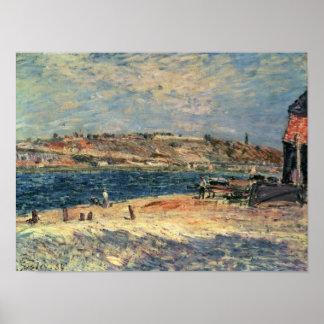 Alfred Sisley | River Banks at Saint-Mammes Poster