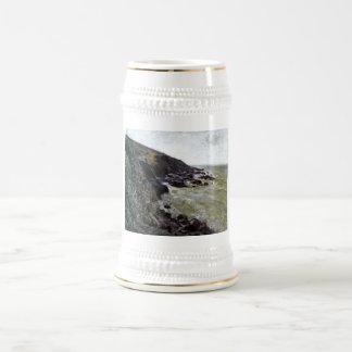 Alfred Sisley - roca del mar de la playa del Jarra De Cerveza