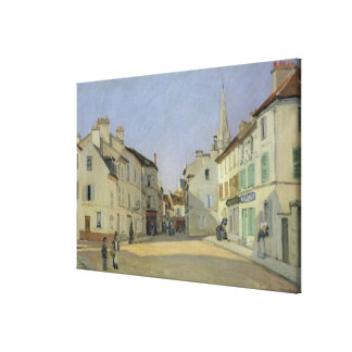 Alfred Sisley | Rue de la Chaussee at Argenteuil Canvas Print