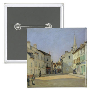 Alfred Sisley | Rue de la Chaussee at Argenteuil Pinback Button