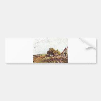 Alfred Sisley - Saint-Mammès am Morgen 1890 Bumper Sticker