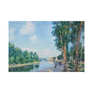 Alfred Sisley - Saint-Mammes. June Sunshine Canvas Print