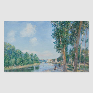 Alfred Sisley - Saint-Mammes. June Sunshine Rectangular Sticker