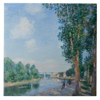 Alfred Sisley - Saint-Mammes. June Sunshine Tile