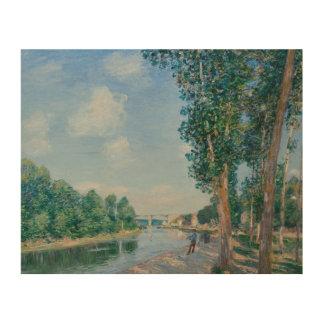 Alfred Sisley - Saint-Mammes. June Sunshine Wood Wall Art