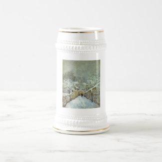 Alfred Sisley - Schnee en el aceite de Jarra De Cerveza